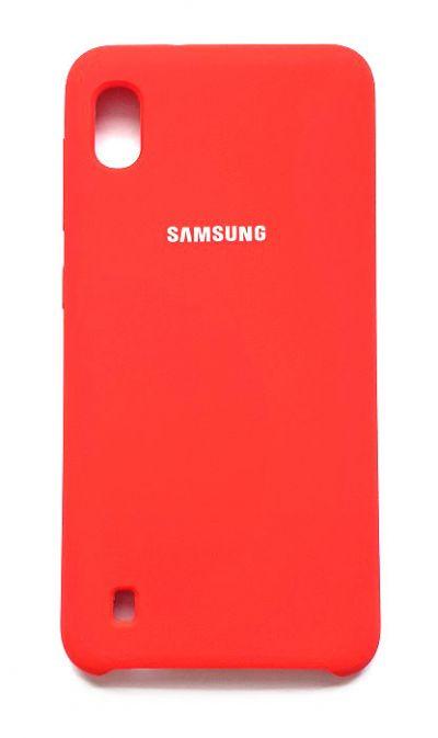 Чехол - накладка для Samsung A10 Silicone Cover Red