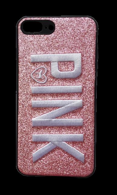 Чехол - накладка для iPhone 7 / 8 Plus силикон Pink White