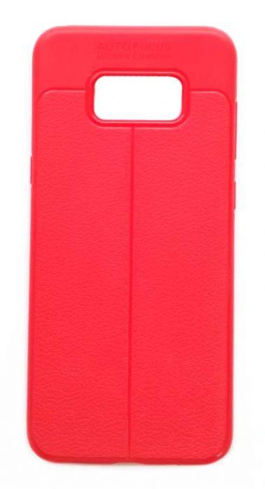Чехол - накладка для Samsung S8 Plus силикон Leatherette Red