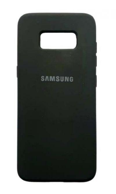 Чехол - накладка для Samsung S8 Plus силикон Black org