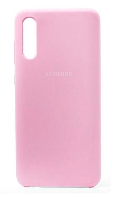 Чехол - накладка для Samsung A70 Silicone Cover Light Pink