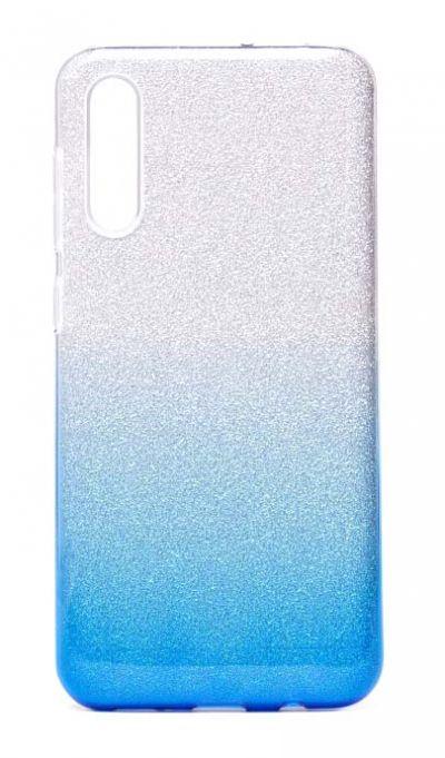 Чехол - накладка для Samsung A50 / A30S силикон Gradient Tinsel Blue