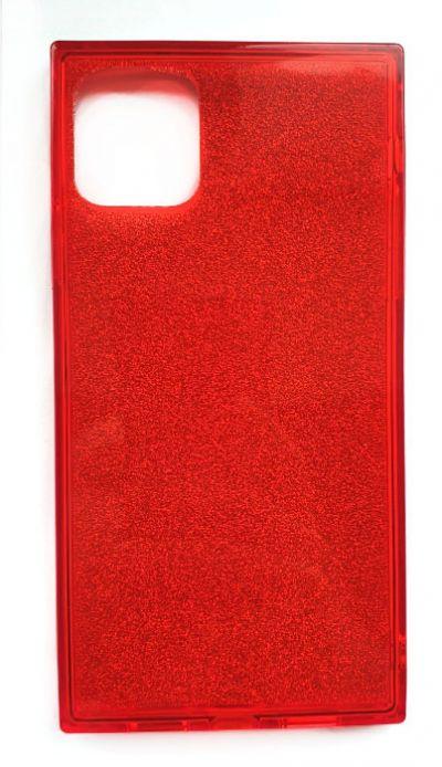 Чехол - накладка для iPhone 11 Pro силикон Вставка Красные блестки