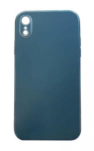 Чехол - накладка для iPhone XR силикон Gloss Dark Green org