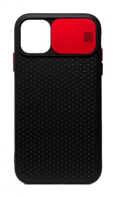 Чехол - накладка для iPhone 12 / 12 Pro силикон Camera Protection Red