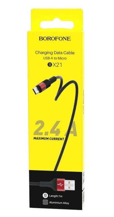 Кабель Micro USB - USB Borofone BX21 Outstanding, черный 1м