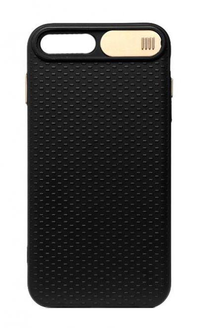 Чехол - накладка для iPhone 7 / 8 Plus силикон Camera Protection Gold