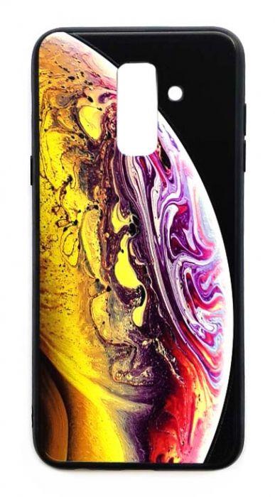 Чехол - накладка для Samsung A6 Plus (2018) силикон Planet Yellow