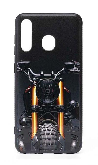 Чехол - накладка для Samsung A20 / A30 силикон Motorcycle