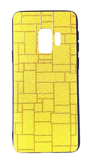 Чехол - накладка для Samsung S9 пластик Brick Yellow