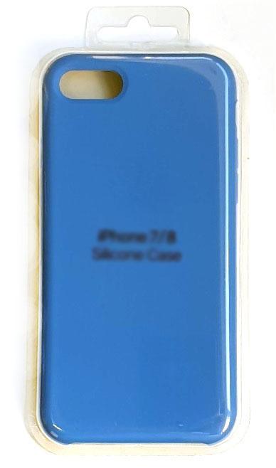 Чехол - накладка для iPhone 7 / 8 / SE 2020 Silicone Case Blue