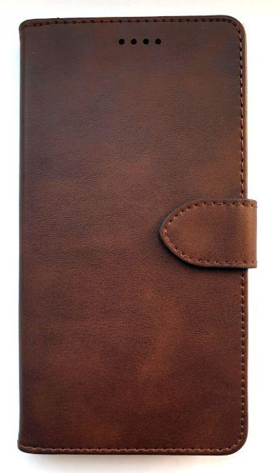 Чехол - книжка для Samsung A80 / A90 полиуретан Brown