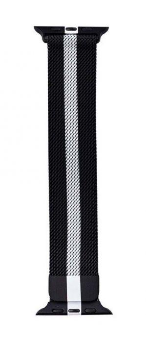 Ремешок для Apple Watch 38 / 40 мм Миланская петля, металл Black / White