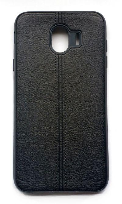 Чехол - накладка для Samsung J4 (2018) силикон Leatherette Black