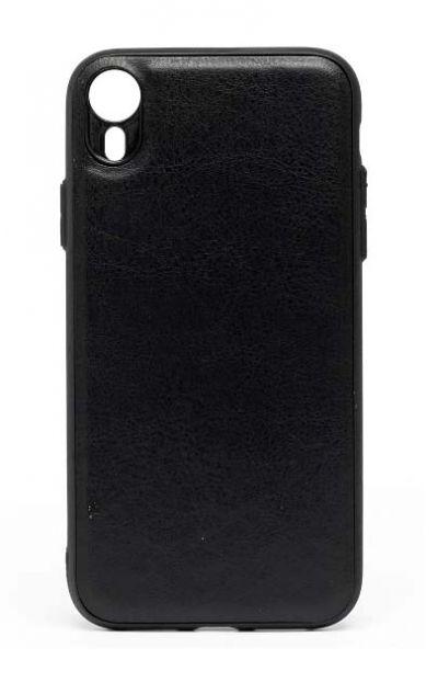 Чехол - накладка для iPhone XR силикон Leatherette Black