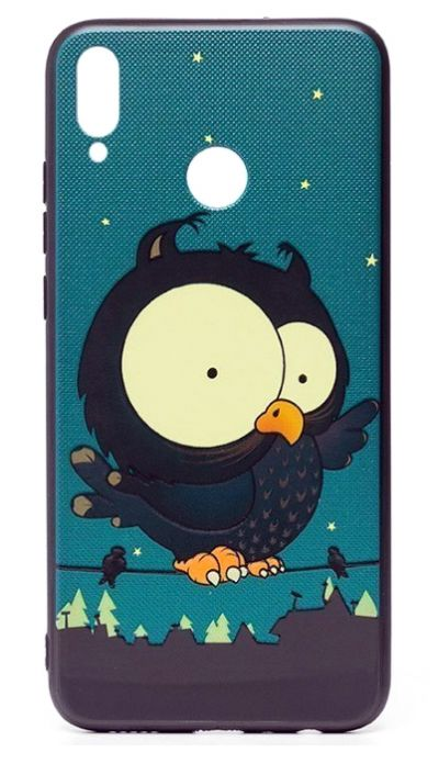 Чехол - накладка для Honor 8X силикон Frightened Owl