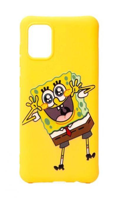 Чехол - накладка для Samsung M31s силикон Funny Spongebob yellow