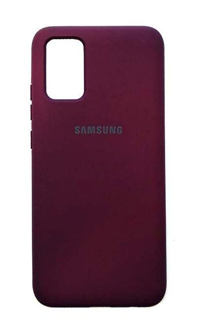 Чехол - накладка для Samsung A02s силикон Magenta org