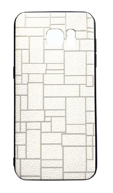 Чехол - накладка для Samsung S7 Edge пластик Brick White