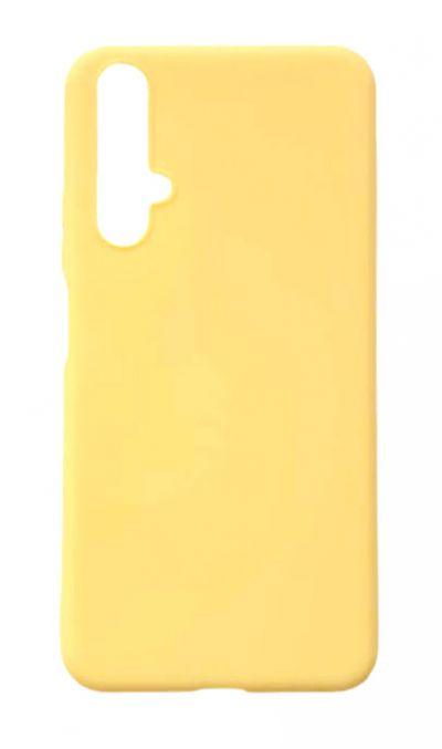 Чехол - накладка для Honor 20 силикон Yellow