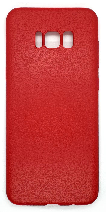 Чехол - накладка для Samsung S8 Plus силикон Leather Relief Red