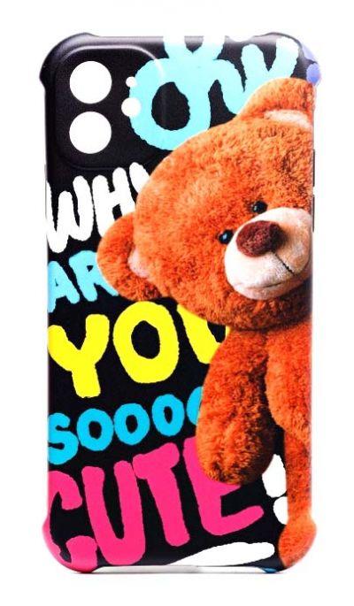 Чехол - накладка для iPhone 11 силикон Teddy Bear