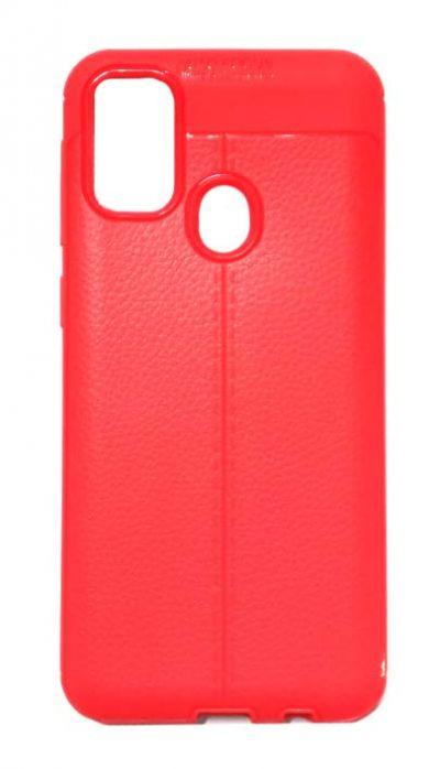 Чехол - накладка для Samsung M21 / M30s силикон Leatherette Red
