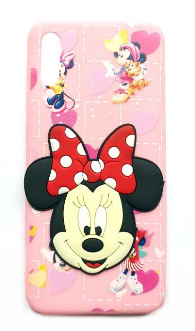 Чехол - накладка для Samsung A50 / A30S силикон Minnie's face Pink