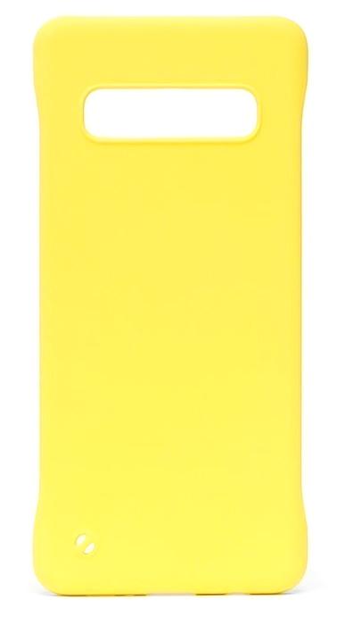Чехол - накладка для Samsung S10 пластик Soft Yellow