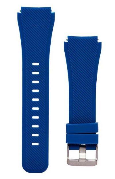 Ремешок для Samsung Gear S3 Frontier / Classic / Galaxy Watch 46мм силикон Dark Blue