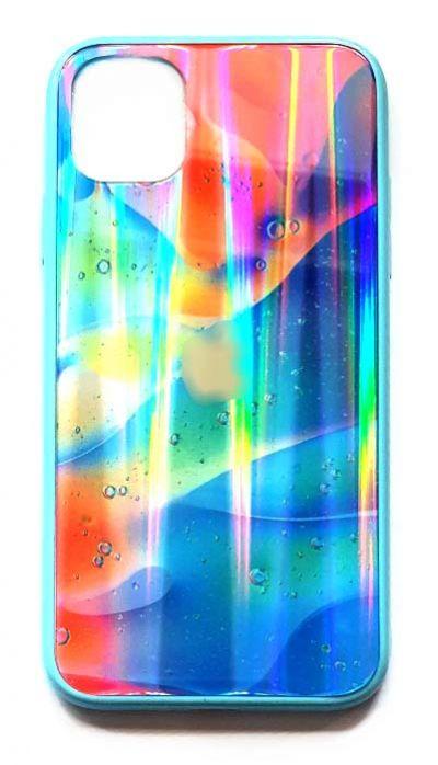 Чехол - накладка для iPhone 11 Pro Max силикон Glass Shines Sky Blue