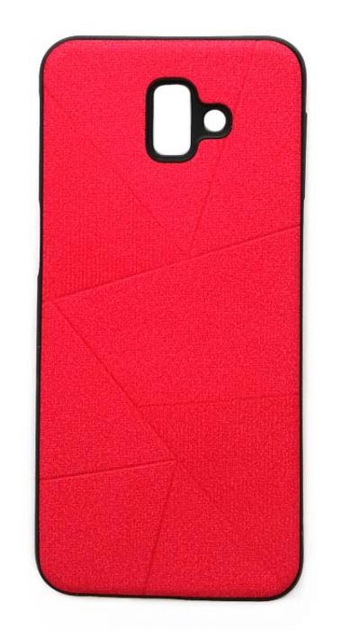 Чехол - накладка для Samsung J6 Plus (2018) силикон Rag Lines Red