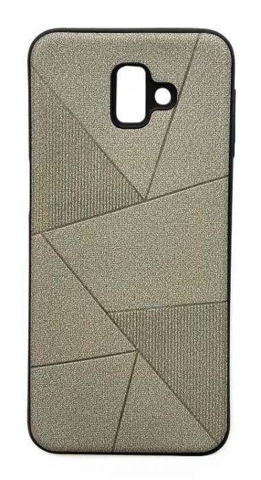 Чехол - накладка для Samsung J6 Plus (2018) силикон Rag Lines Grey