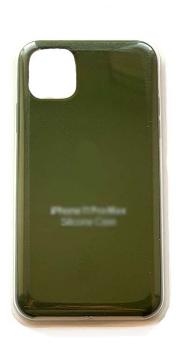 Чехол - накладка для iPhone 11 Pro Silicone Case Dark Green
