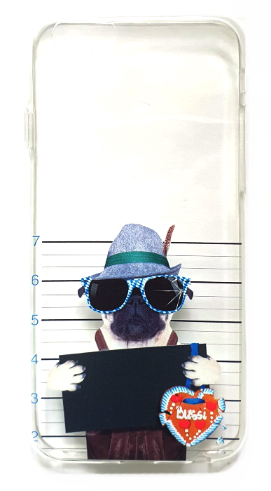 Чехол - накладка для iPhone 6 / 6S силикон Dog Bussi