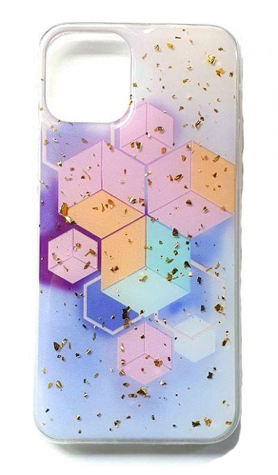 Чехол - накладка для iPhone 11 Pro силикон Sparkles Abstract №2