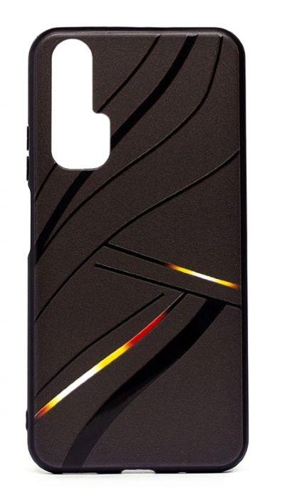 Чехол - накладка для Honor 20 Pro силикон Black Lines