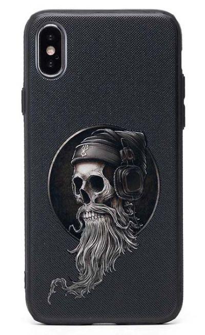 Чехол - накладка для iPhone X / XS силикон Music Scull