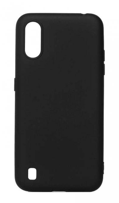 Чехол - накладка для Samsung A01 / M01 силикон Activ Full Black