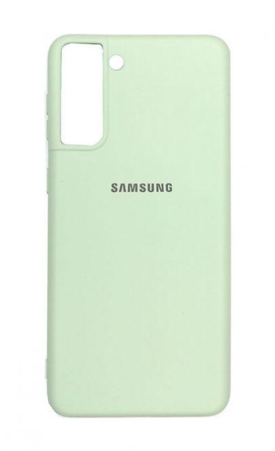 Чехол - накладка для Samsung S21 силикон Light Green org