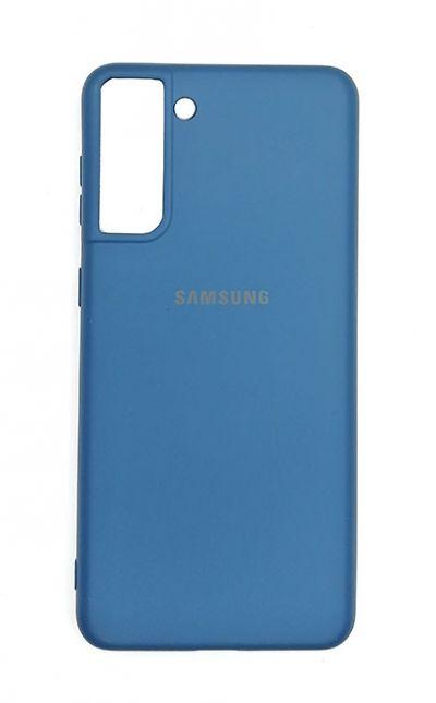 Чехол - накладка для Samsung S21 Plus силикон Dark Blue org