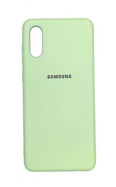 Чехол - накладка для Samsung A02 силикон Light Green org