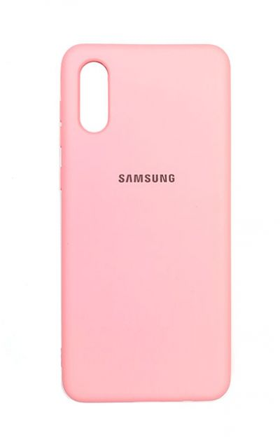 Чехол - накладка для Samsung A02 силикон Pink org