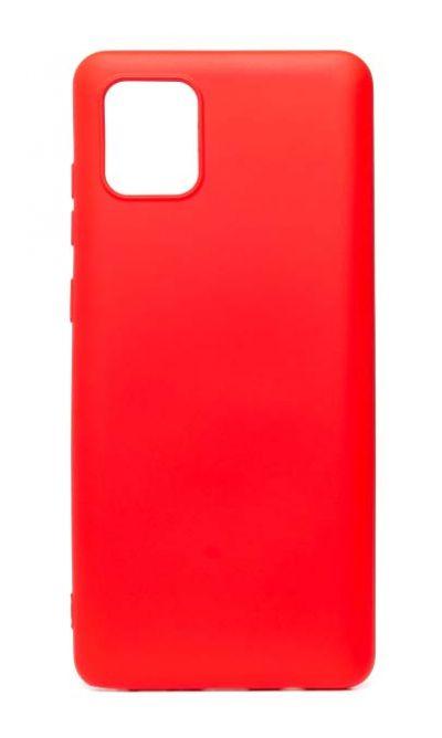 Чехол - накладка для Samsung Note 10 Lite силикон Activ Full Red