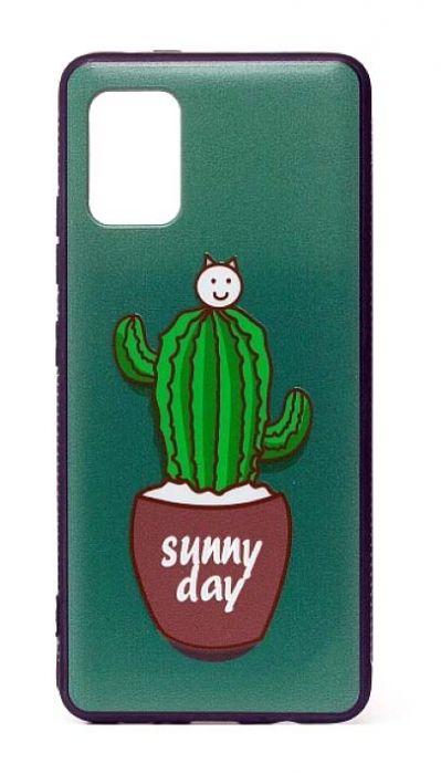 Чехол - накладка для Samsung A31 силикон Cactus Sunny day