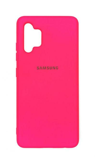 Чехол - накладка для Samsung A32 силикон Dark Pink org