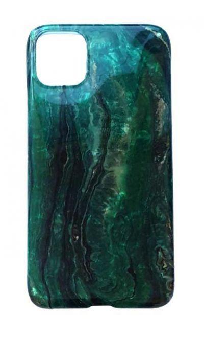Чехол - накладка для iPhone 11 силикон ST Marble Green