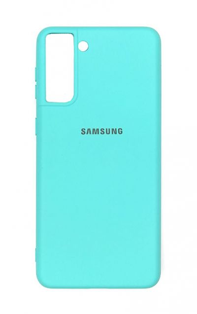 Чехол - накладка для Samsung S21 силикон Sky Blue org