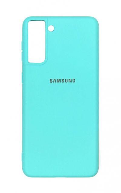 Чехол - накладка для Samsung S21 Plus силикон Sky Blue org