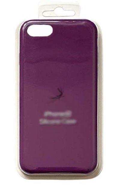 Чехол - накладка для iPhone 7 / 8 / SE 2020 Silicone Case Eggplant